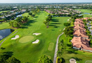 aerial view of nice florida golf course
